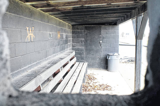 Dugouts, like the one here at Wilmington High School, tennis courts and tracks are empty these days as high school spring sports continue to be on a hiatus because of the coronavirus.