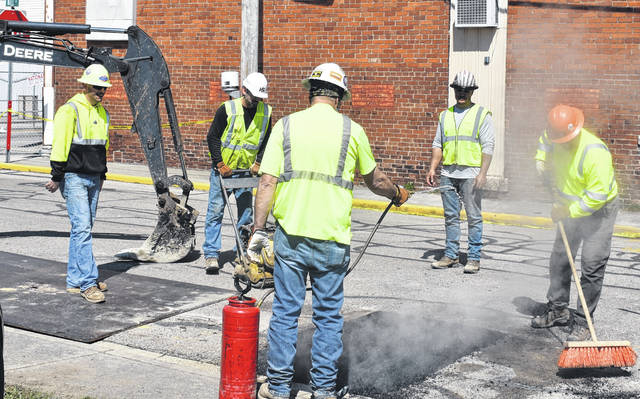 Street work continues this week in the Village of Blanchester.