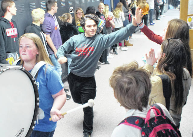 Wilmington High School student Mason Snyder got a royal send-off from his peers Wednesday as he prepared to compete for Wilmington FFA at the state competition in Advanced Prepared Speaking.