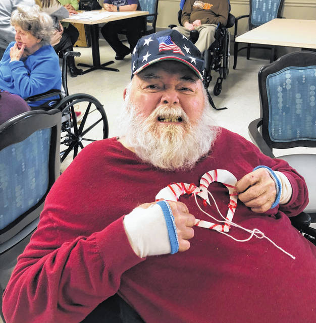 A Continental Manor resident, Don, shows off his heart for Valentine's Day.