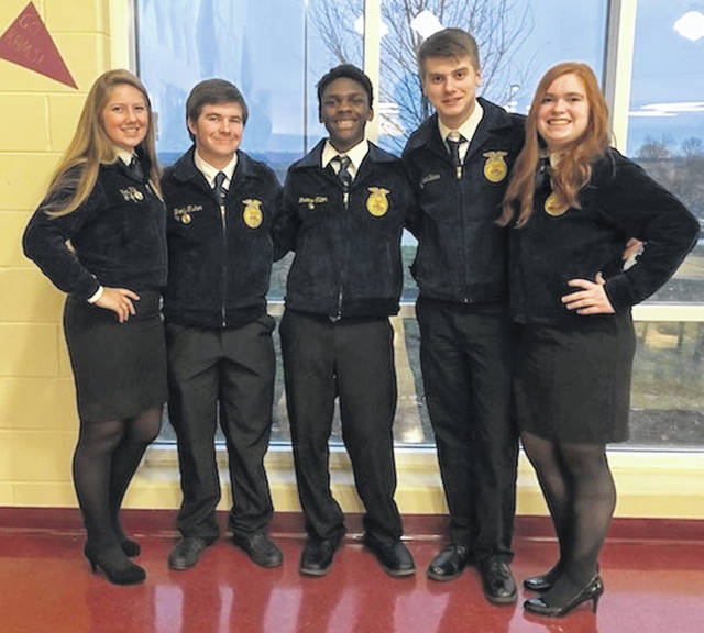 EC FFA members participated in public speaking events.