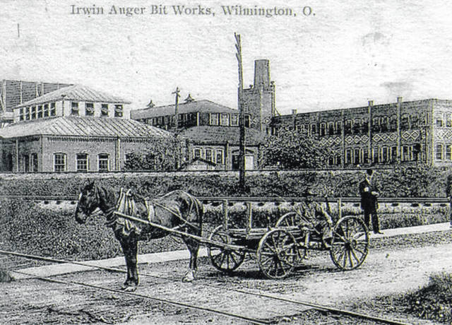 """An undated photo of the """"Irwin Auger Bit Works, Wilmington, O."""" which had been restored by the late Bob Murdock of Clarksville. This was published in an article written for the Village Voice, a small local newsletter that ran in the Midland-Westboro Area for nine years."""