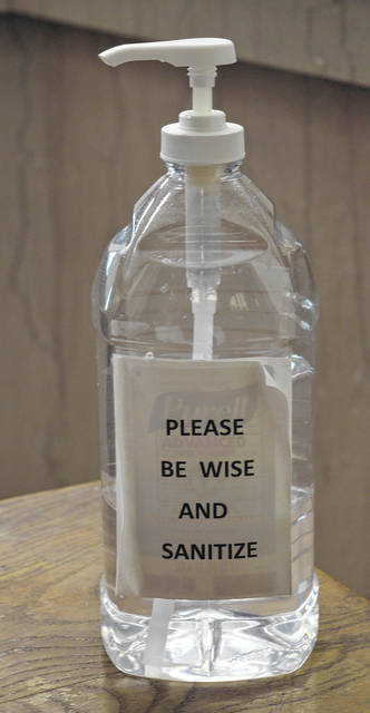 This bottle of hand sanitizer bears an apt and rhyming message. The rhyming bottle has been in the Clerk of Courts Office for about a year — since Deputy Clerk Amanda Gordley got creative and became a poet and didn't know it.