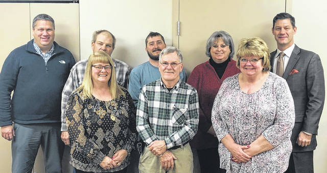 Clinton County commissioners are continuing to hold joint meetings with township trustees and village councils as an opportunity for commissioners to go around the county and hear what's on the minds of elected officials and citizens. On Feb. 26, commissioners attended the Liberty Township Board of Trustees session and took this photo. From left in the front row are Commissioner Brenda Woods, Trustee Richard King, and Commissioners Clerk Diana Groves; and from left in the back row are Commissioner Mike McCarty, Trustees Ron Stryker and Andy Borton, Fiscal Officer Beth Hadley and Commissioner Kerry Steed. The commissioners' upcoming joint meetings include 6:30 p.m. April 6 at the Chester Township Trustees' session; and 6 p.m. April 15 at the Union Township Trustees' meeting.
