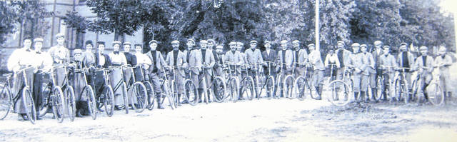 "This photo is labeled, ""Wilmington Bicycle Club circa 1900."" Can you tell us more? Share it at info@wnewsj.com. The photo is courtesy of the Clinton County Historical Society. Like this image? Reproduction copies of this photo are available by calling the History Center. For more info, visit www.clintoncountyhistory.org; follow them on Facebook @ClintonCountyHistory; or call 937-382-4684."
