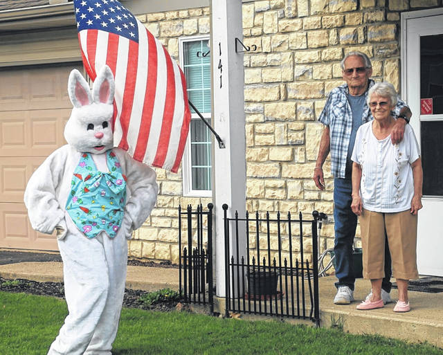 The Clinton County Community Action Program recently had a special someone hopping into action and distributing face masks to area seniors.
