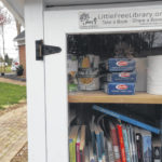 Stories and now spaghetti at Little Free Library