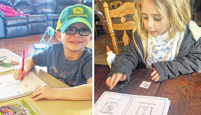 At left, Logan is a student at Sabina Elementary School; at right is Kara, a Pre-K student at Wilmington's East End Elementary. For more photos, see wnewsj.com.