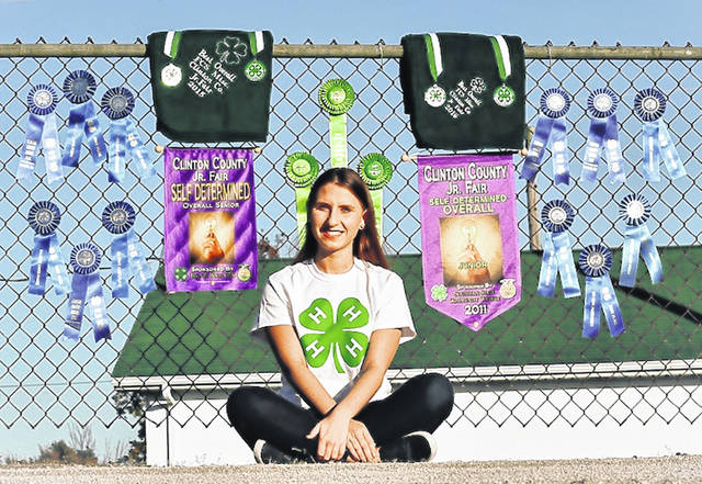 Hannah Gaines has been recognized statewide by 4-H.