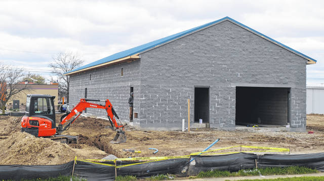 A new car wash operation is taking shape at the corner of Rombach Avenue and Holiday Drive in Wilmington. It will be a Magic Tunnel Express Car Wash.