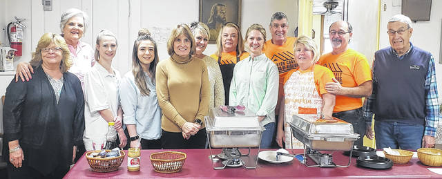 Joining Clinton County Homeless Shelter Director Denise Stryker (first on left) are some of the local volunteers who brought the 2020 Board of Realtors' pancake breakfast to fruition.
