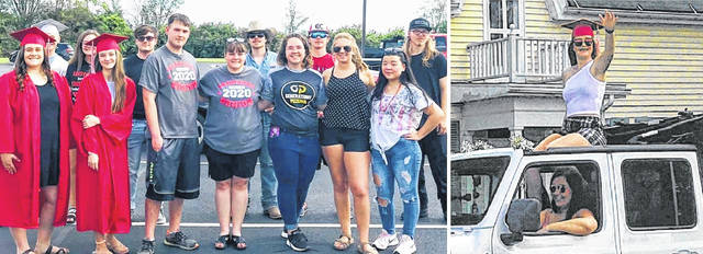 """Members of the East Clinton Class of 2020 held a """"Cruise Thru"""" over the weekend when residents had an opportunity to go outdoors and cheer and show support for the new graduates who weren't able to have the traditional, mass gathering commencement. The """"Cruise Thru"""" caravan traveled through New Vienna, the high school campus in Lees Creek, and ended in Sabina, all part of the EC school district."""