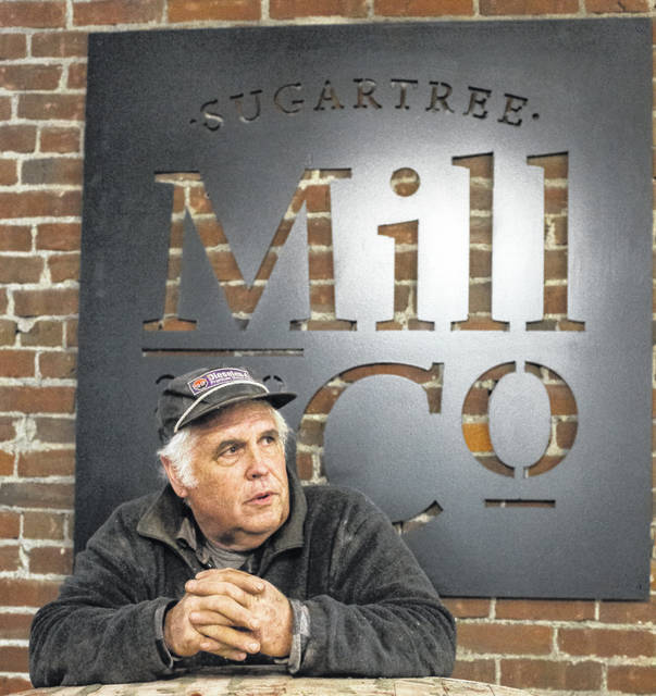 Local mason Jeff Baughman teamed up with Sugartree Mill Co. owners Randy and Diane Dell to restore the brick arch.