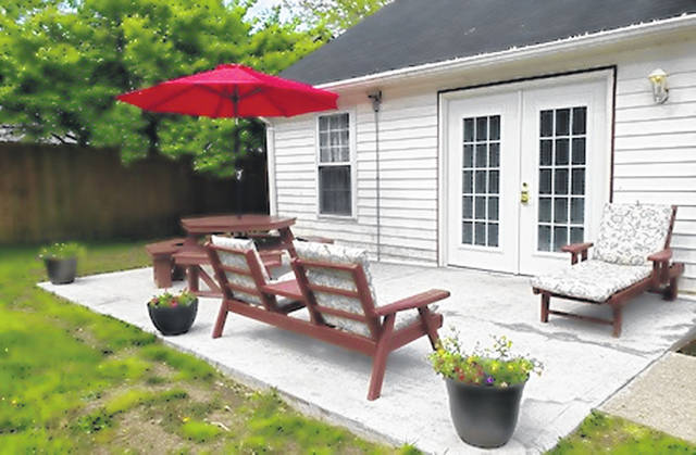 A porch expansion project for the Clinton County Homeless Shelter was completed by the Matrka Family.