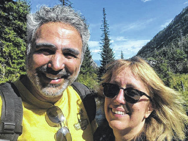 Dr. Jeff Manser and Dr. Tina Gabbard on vacation in a photo taken before the coronavirus struck him.