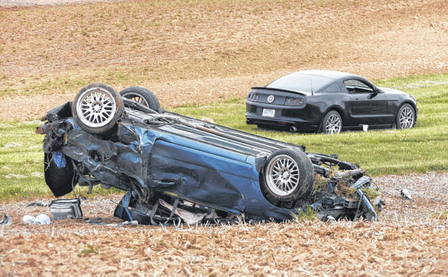 Two people are reported injured in a one-vehicle rollover crash Wednesday afternoon, May 13 along State Route 72 near Reesville. No further details were immediately available.