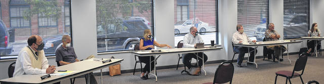 On Thursday, the Wilmington City Council met in person for the first time since the state at home issues were ordered. The meeting was held in the Moyer Community Room at the city building. Council members and attendees practiced social distancing and to wear masks.