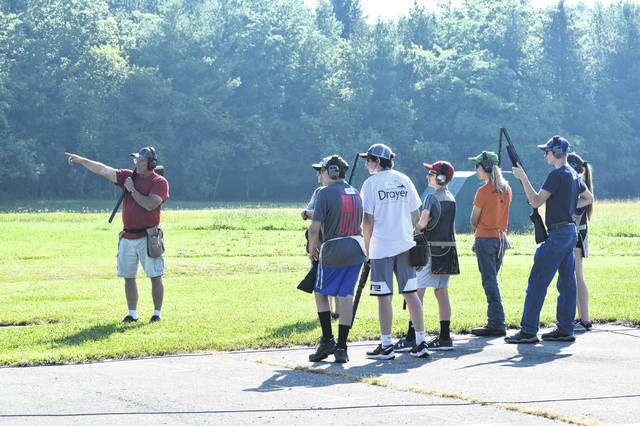 Local youths show what they've learned during their week at the Clinton County Farmers' and Sportsmen's Association's Youth Skeet Shooting Camp on Friday.