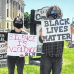 Locals stage peaceful protests