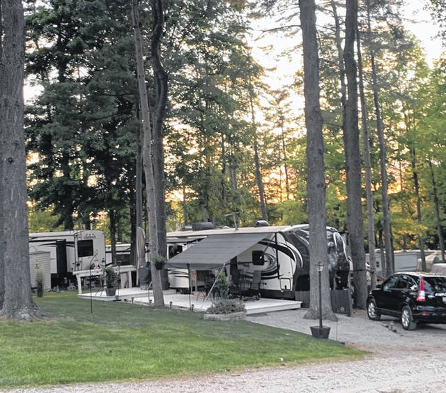 A typical scene at Pine Cove Campground.