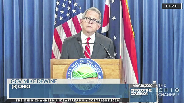 Ohio Gov. Mike DeWine at Monday's update.