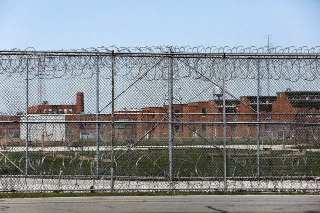 FILE - This April 20, 2020 file photo shows the Marion Correctional Institution in Marion, Ohio. The number of prison inmates testing positive for the coronavirus soared well past the 50,000 mark this week, as recent outbreaks threatened to undo control measures put in place earlier in the pandemic. (Fred Squillante/The Columbus Dispatch via AP, File)