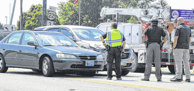 Emergency services responded to a two-vehicle accident involving a sedan and an SUV on Rombach Avenue in Wilmington at around 3:30 p.m. Wednesday. Details of the accident weren't immediately available.