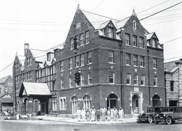 An early photo of the historic venue after its construction was completed.