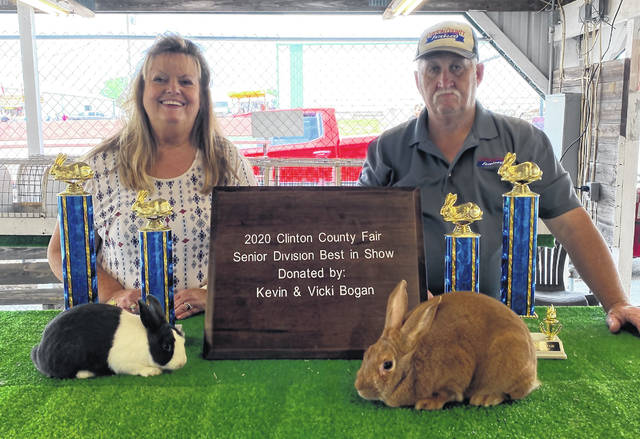 Vicki and Kevin Bogan won many honors, including Best in Show at the Sr. Fair Open Division for Rabbits.