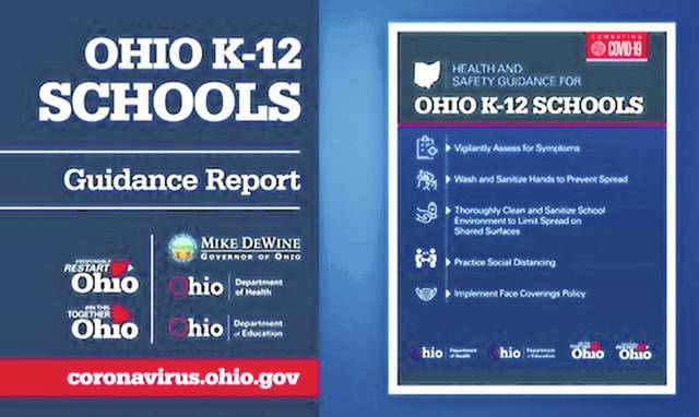 Some of the state's basic guidelines for schools.