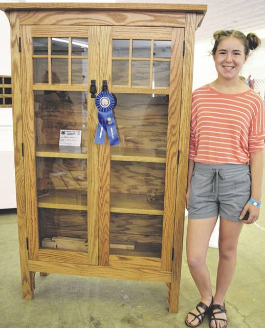 Madison Brausch earned first in the Finishing Up Level 4 Senior category for woodworking.