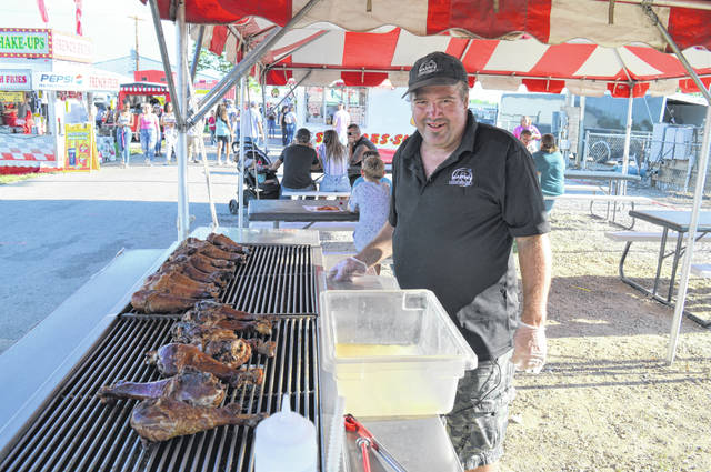 Dean Thompson is known for cooking big drumsticks at the Clinton County Fair, and 2020 was no exception.