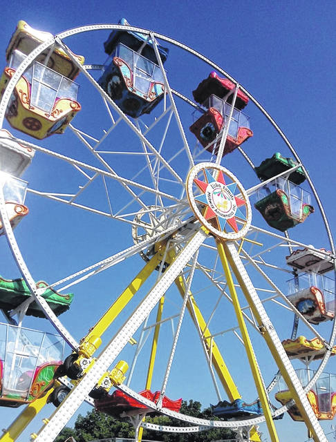 A Ferris wheel is a new attraction among the rides at the 2020 Clinton County Fair, which begins Saturday.