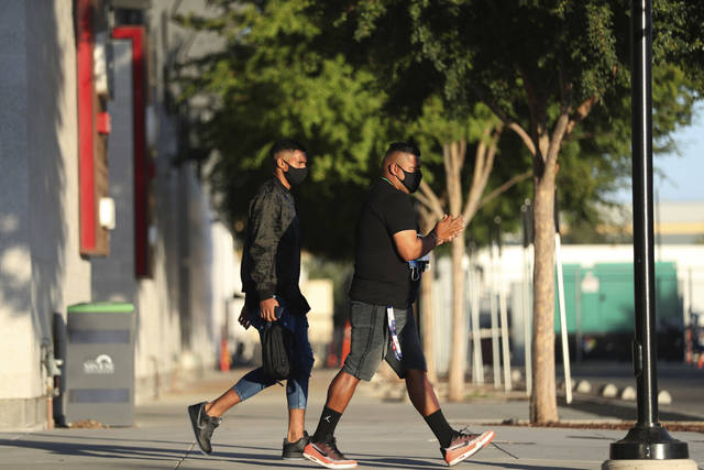 Members of the San Jose Earthquakes depart the stadium where the team had been scheduled to play the Portland Timbers in an MLS soccer match in San Jose, Calif., Wednesday, Aug. 26, 2020. Major League Soccer players boycotted five games Wednesday night in a collective statement against racial injustice. The players' action came after all three NBA playoff games were called off in a protest over the police shooting of Jacob Blake in Wisconsin on Sunday night.