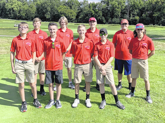 The Clinton-Massie boys golf team, from left to right, front row, Cam Morgan, Ethan Robinette, George Chowning, Logan Miller, Ethan Johnson; back row, Quinton Smith, Samuel Janis, Michael Moritz, Clay Carroll. Team member Dakota Gasaway was not present for the photo.