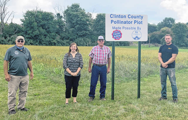 Lowe's Drive and Prairie Avenue is the site of the pollinator plot where City of Wilmington and Farm Bureau officials gathered recently.