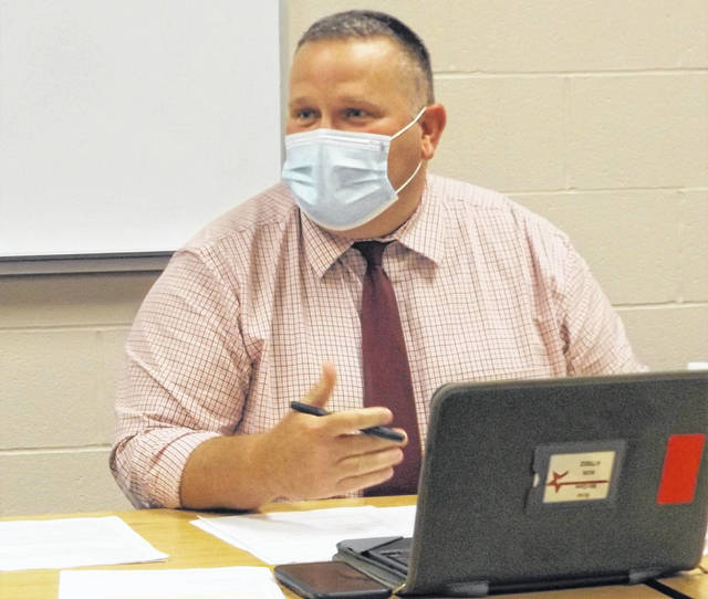 "East Clinton Schools Supt. Eric Magee saw ""lots of smiling eyes"" in the classrooms."
