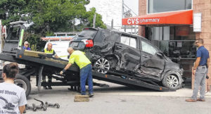 Crashed SUV extracted about 24 hours after incident