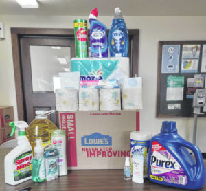 Providing cleaning and personal care items