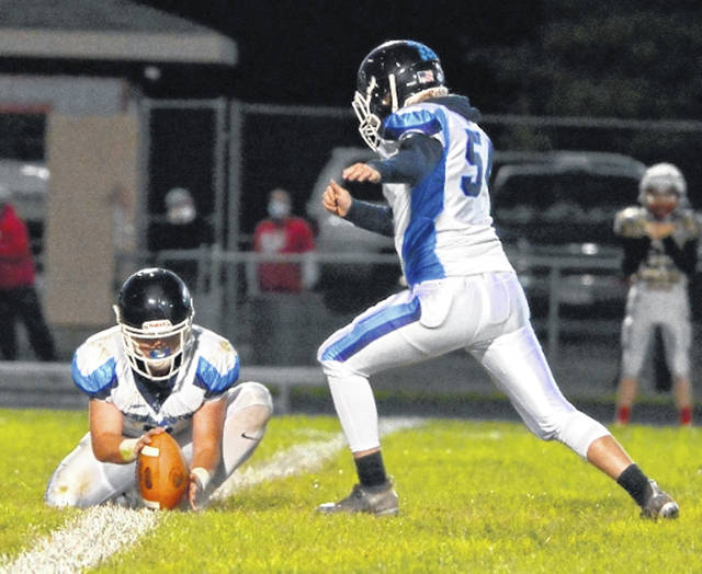 Kicker Bryan Bandow has been a pleasant surprise for the Blanchester football team this season.