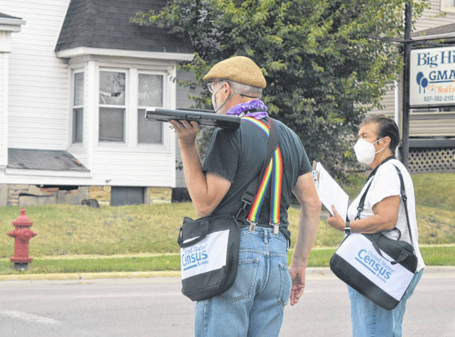 These two census workers were spotted early Wednesday evening in Wilmington at the corner of East Main and Lincoln Streets. Have you filled out a 2020 census yet?