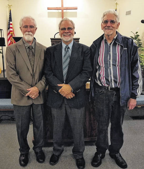 From left are Dan Cook, Dan Mayo and Dan Dericks.