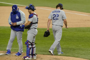 Kershaw falters again in playoffs, pushing Dodgers to brink