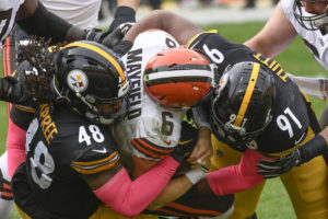 Steelers stay perfect, blow out Mayfield, Browns 38-7