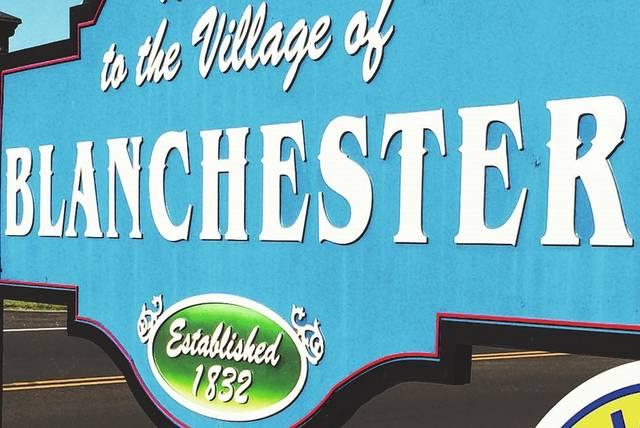 "The ""Welcome to Blanchester"" sign includes the year of 1832 when the village was officially formed."