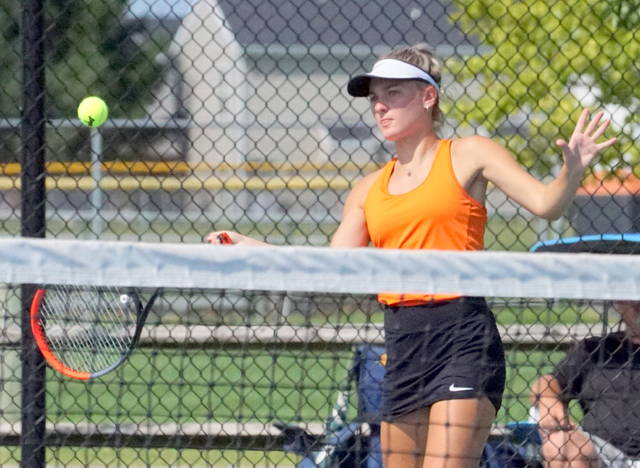 Claire Burns is Wilmington's first-ever girls tennis sectional champion.