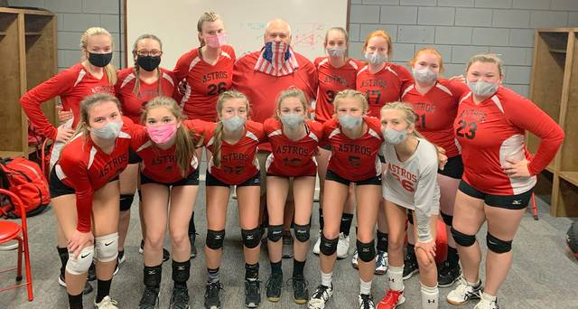 The East Clinton junior varsity volleyball finished its season 16-3.