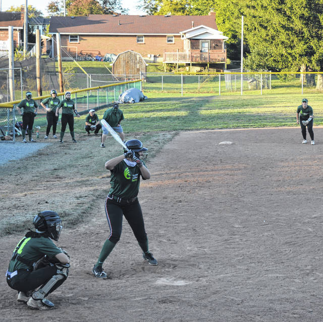 The sound of a bat hitting a ball was a welcome one Wednesday at the Wilmington College softball field as the college softball team practiced among themselves.