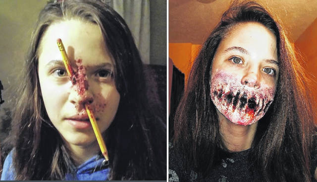 """Annie Trovillo's makeup skills, from a pencil accident to a huge """"smile."""""""