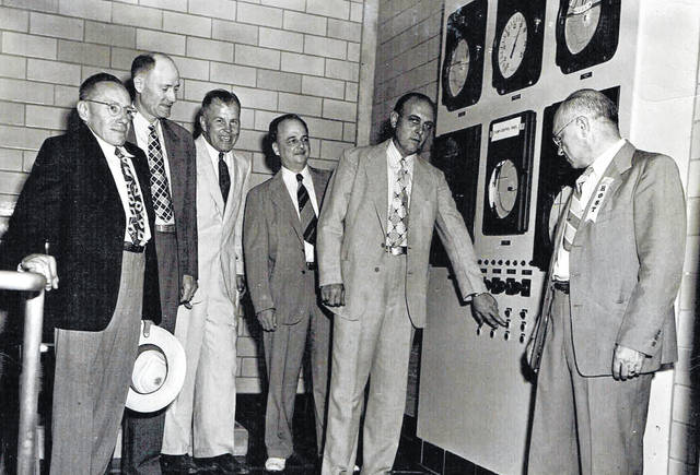 Wilmington City Council members dedicate the new water plant on Prairie Avenue, believed to be sometime in the 1950s. Those shown include Frank Tener (at far left) and Charles Kohler (second from right). Can you tell us more? Let us know at info@wnewsj.com. The photo is courtesy of Carole Nichols.